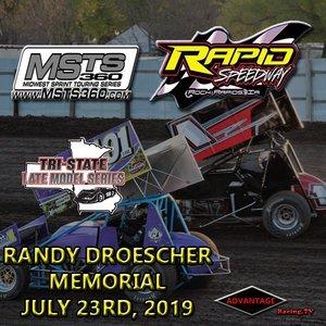 Rapid Speedway:  Randy Droescher Memorial July 23rd, 2019