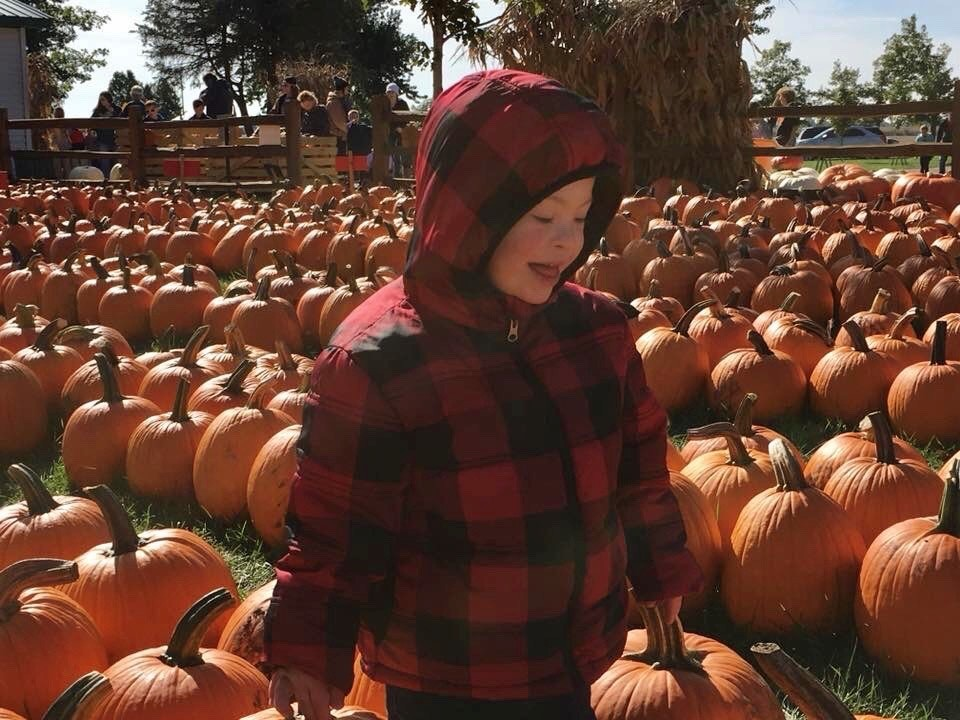 Foxx Goetz at pumpkin patch