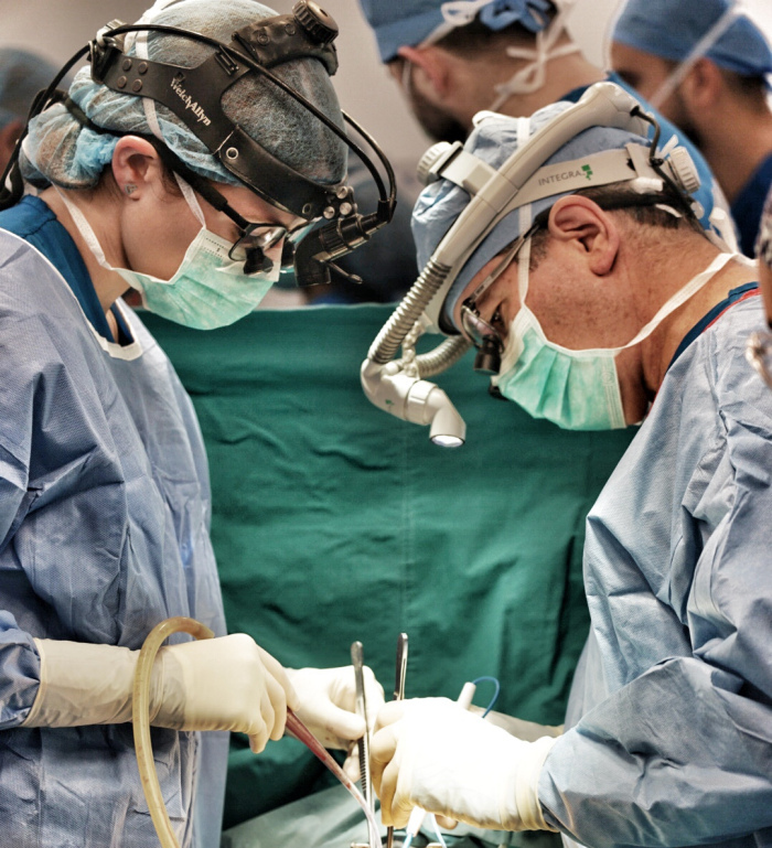 Dr. Mark Turrentine performing operation