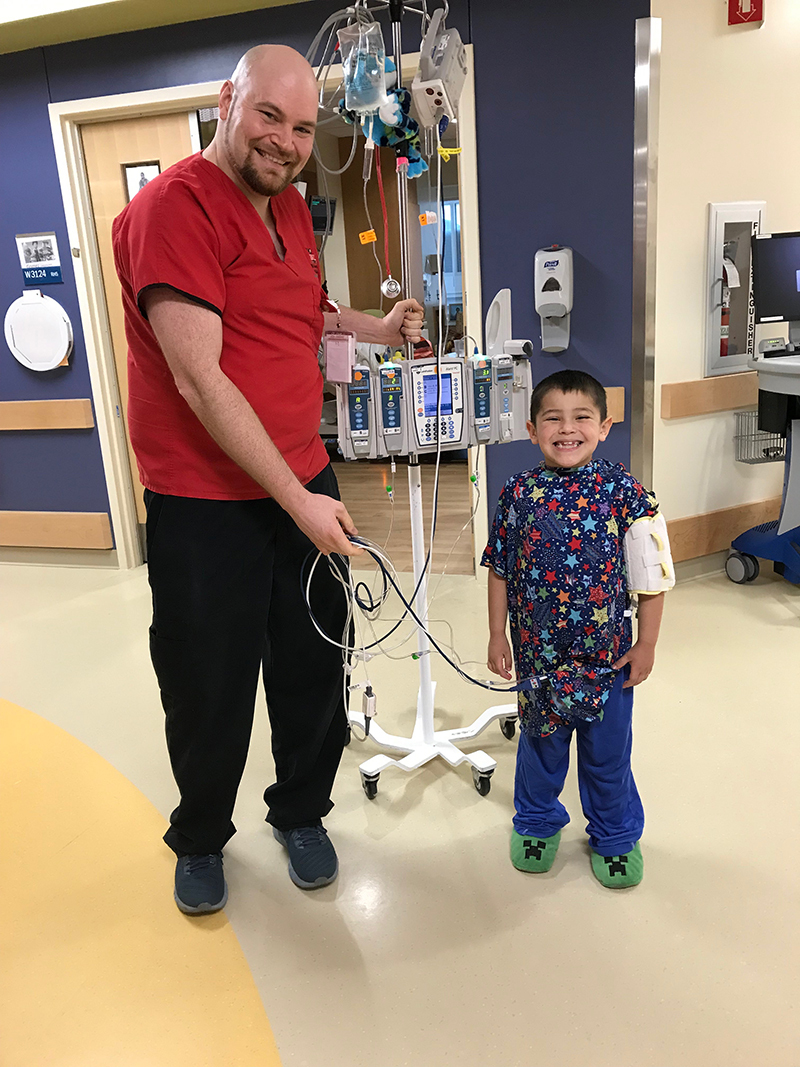 Nathan May with patient