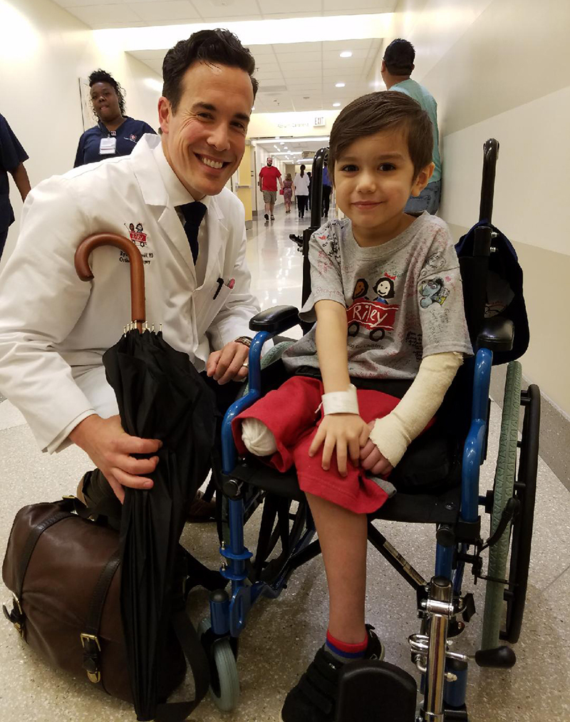 Jonathin with Dr. Ryan Fitzgerald