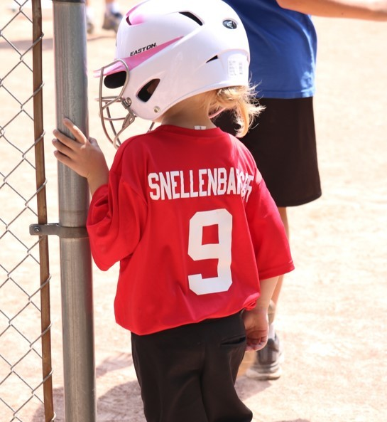 Amy at ball field