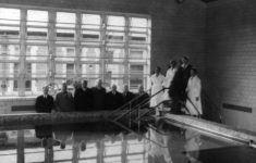 The hydro-therapy pool is shown in 1935. Credit: IUPUI University Library Special Collections and Archives