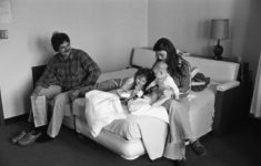 A family stays in the Parent Care Unit in 1980. Credit: IUPUI University Library Special Collections and Archives