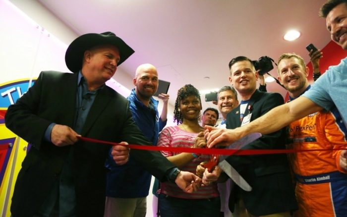Country singer and philanthropist Garth Brooks visits Riley at IU Health to present the hospital's new Child Life Zone, a state-of-the-art, therapeutic play area where pediatric patients and their families can play, learn, laugh and relax.