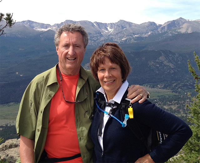 Dr. Brown and wife Carol Ann vacationing.