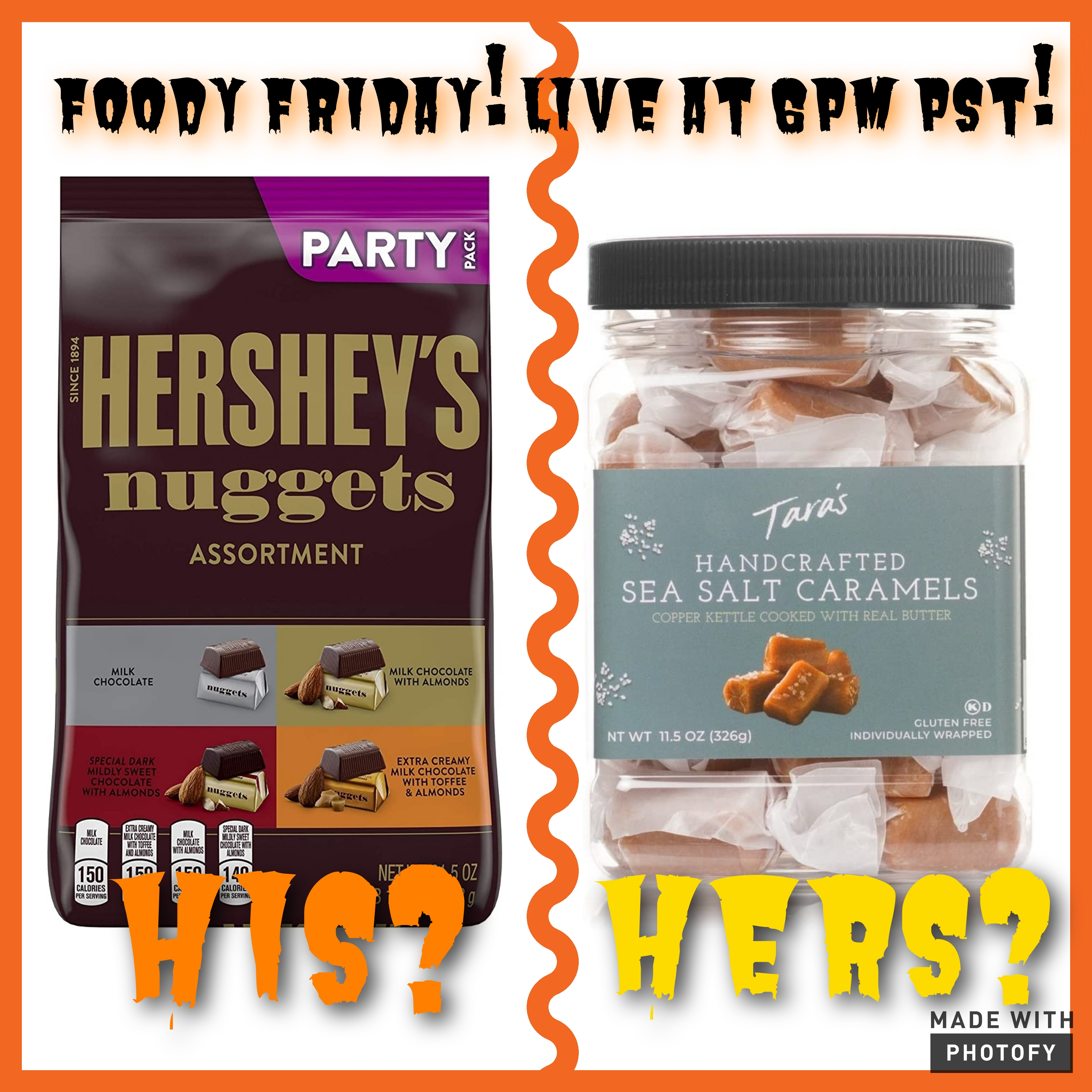 Foody Friday Live at 6pm pst