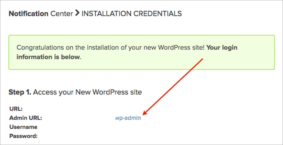 Instalación de WordPress en el hosting con un clic