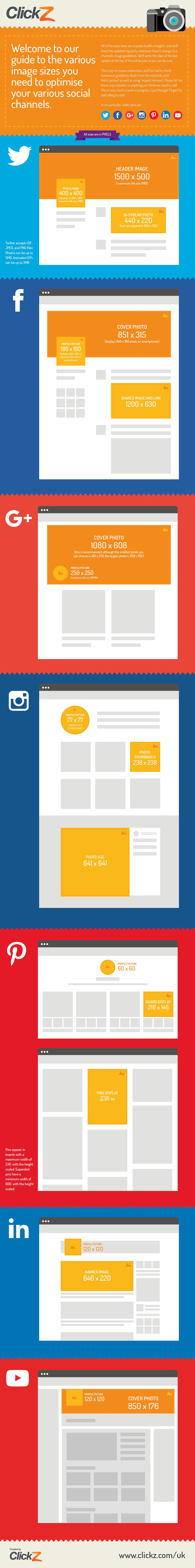 Medidas recomendadas para tus publicaciones en redes sociales