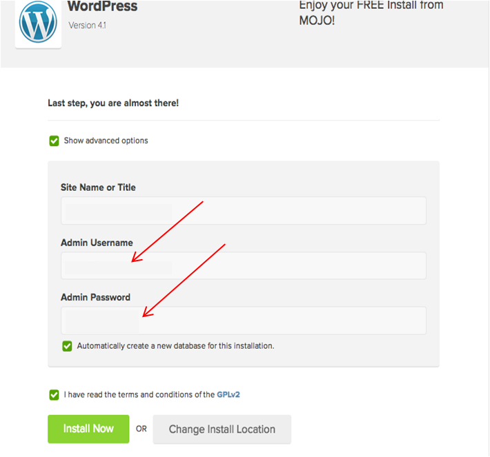 Instalación de WordPress en el hosting