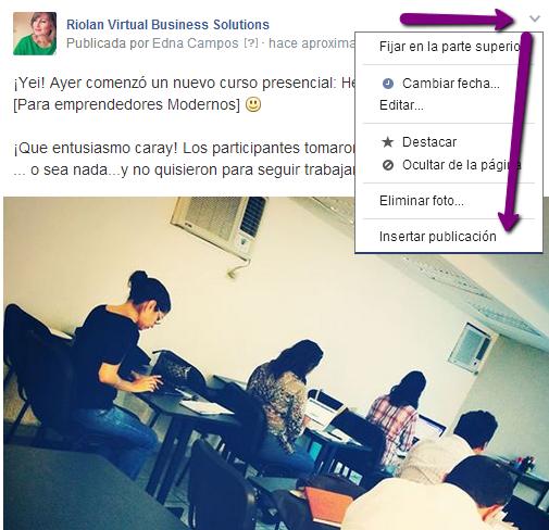 Cómo insertar publicaciones de facebook en tu página web o blog