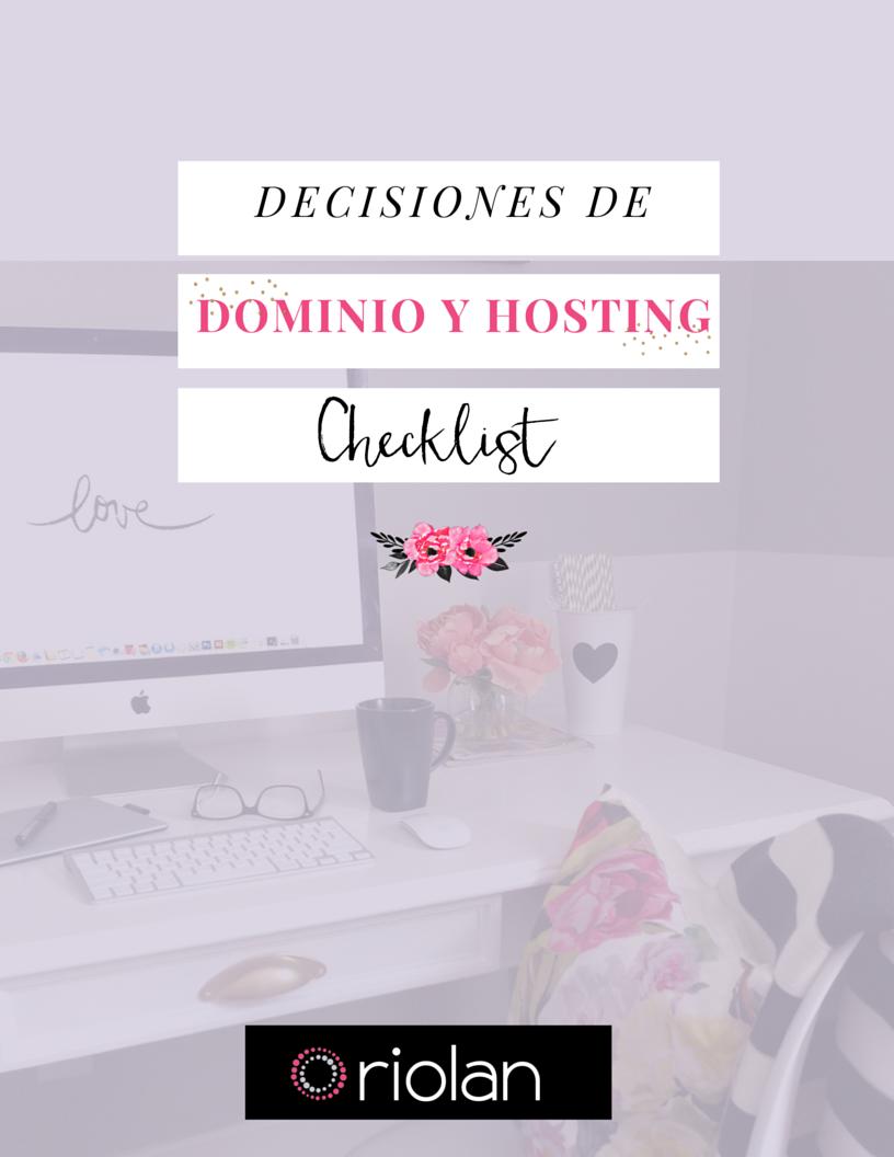 Guía Decisiones de dominio y hosting para tu sitio web