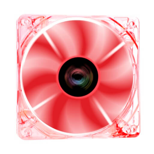 CROSS-X Clear LED 120.0 mm Fan RED
