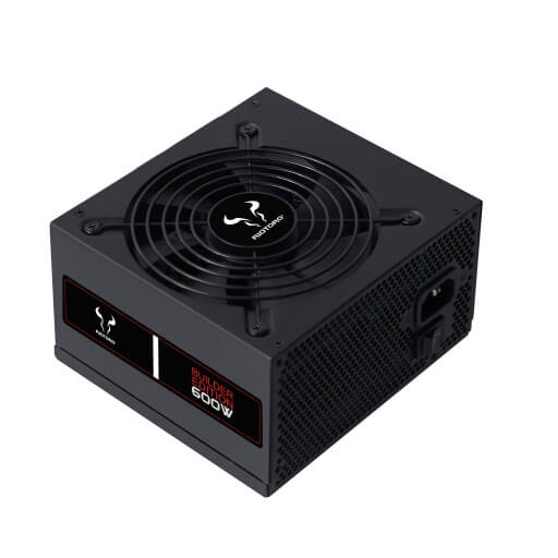 Builder Edition 600W 80 Plus White PC Power Supply, 80+ PSU, Non-modular - UK
