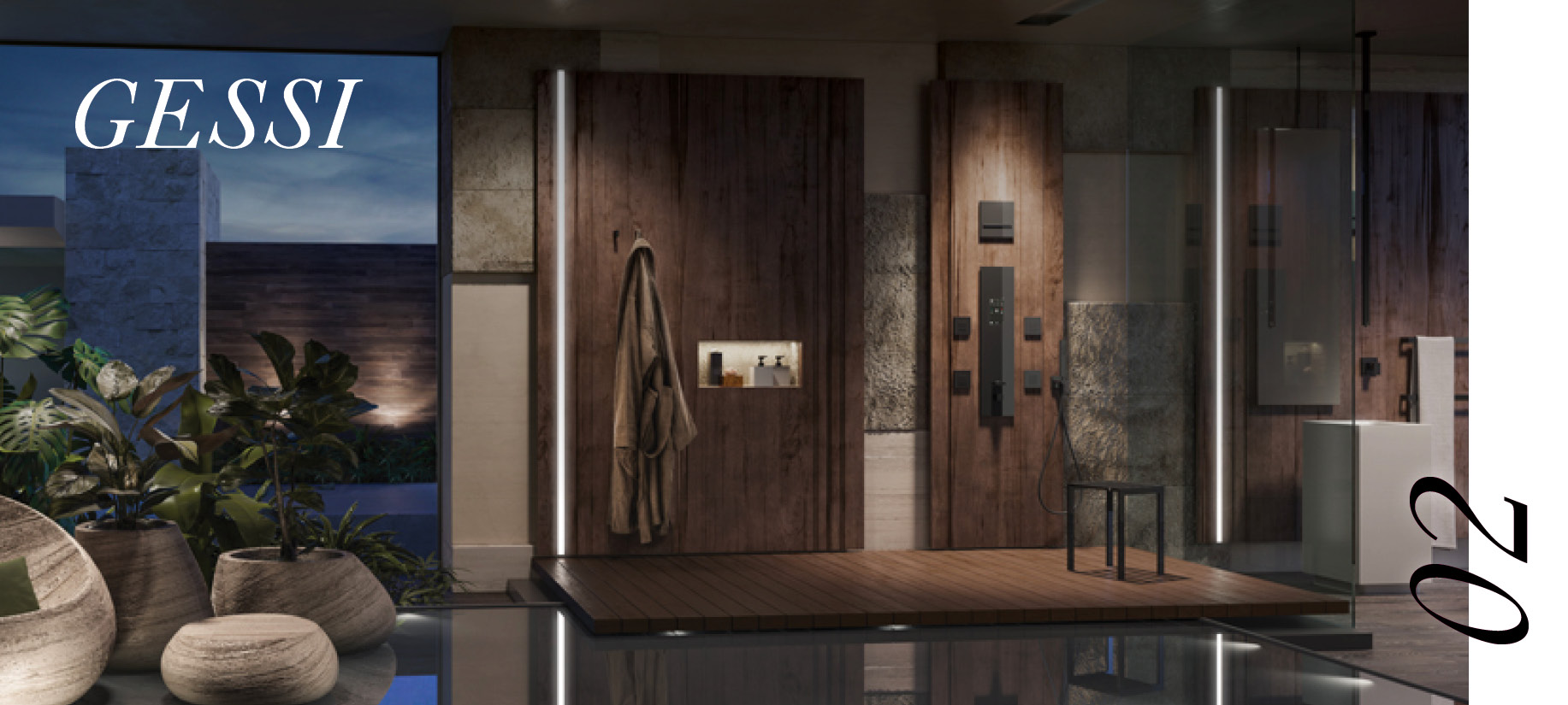 Gessi's private wellness shower