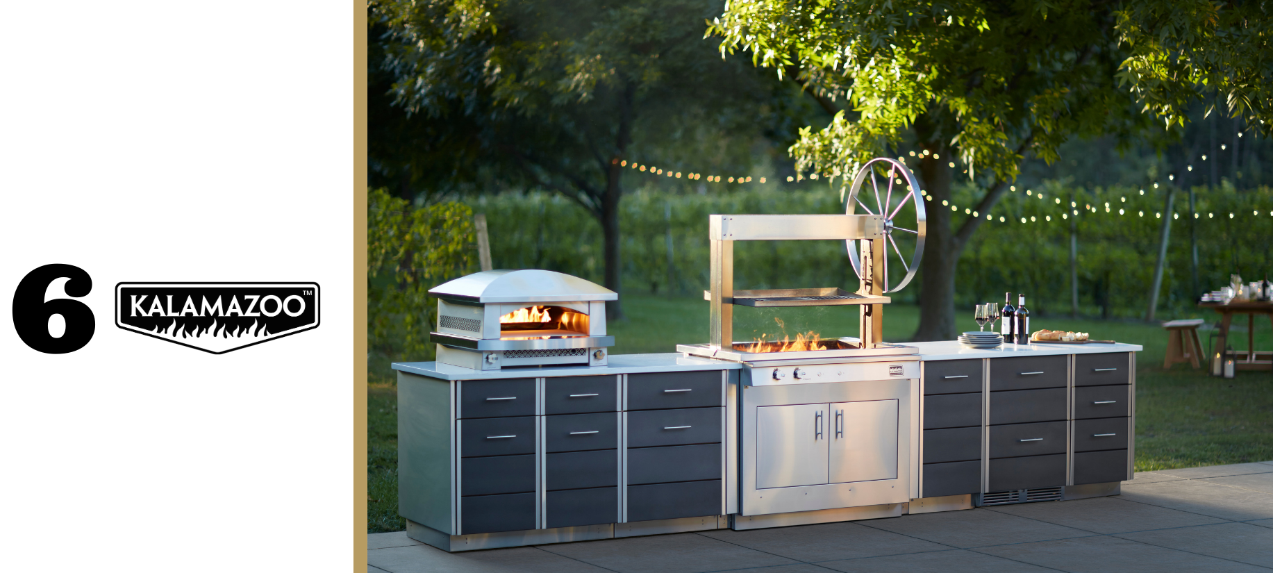 Kalamazoo gaucho grill, pizza oven and cabinetry