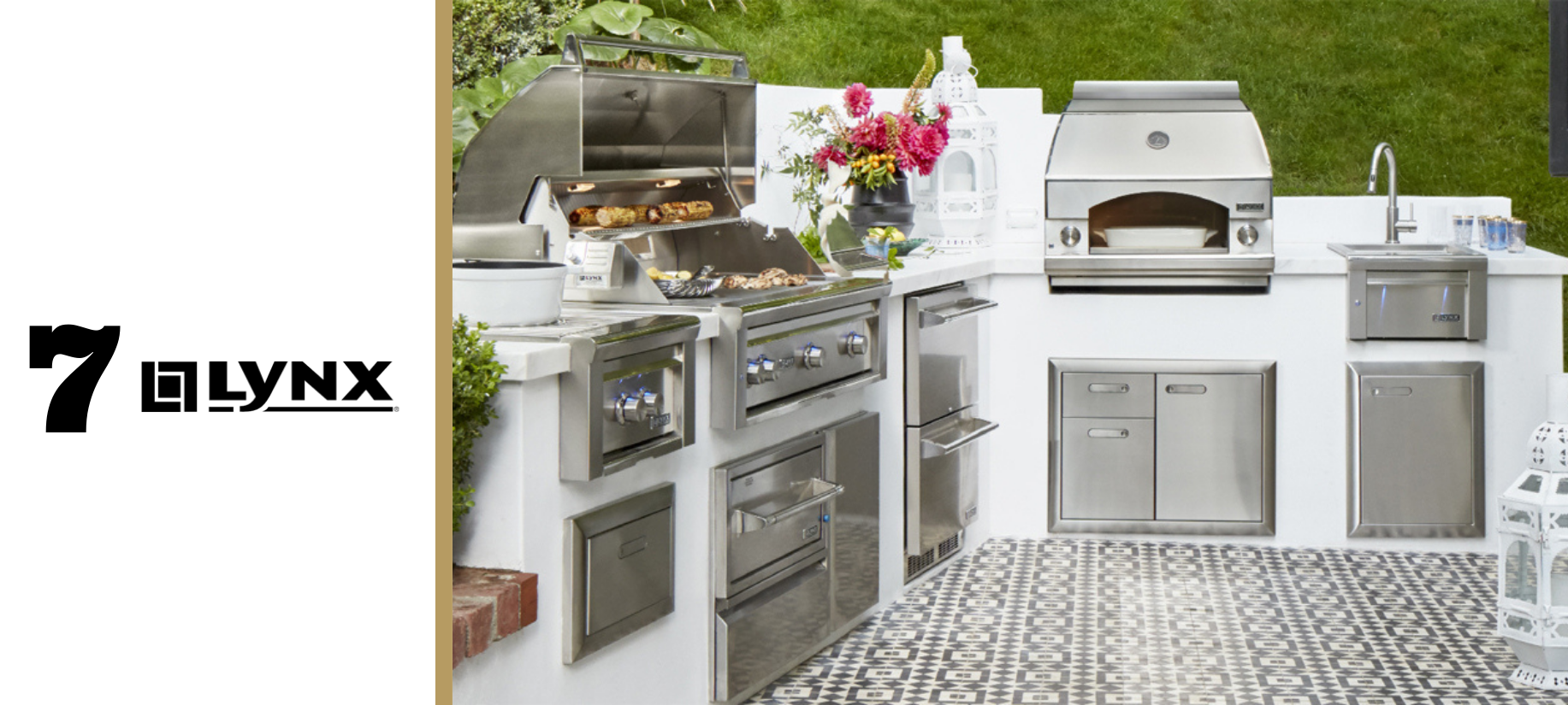 Lynx outdoor grills and custom outdoor kitchen products