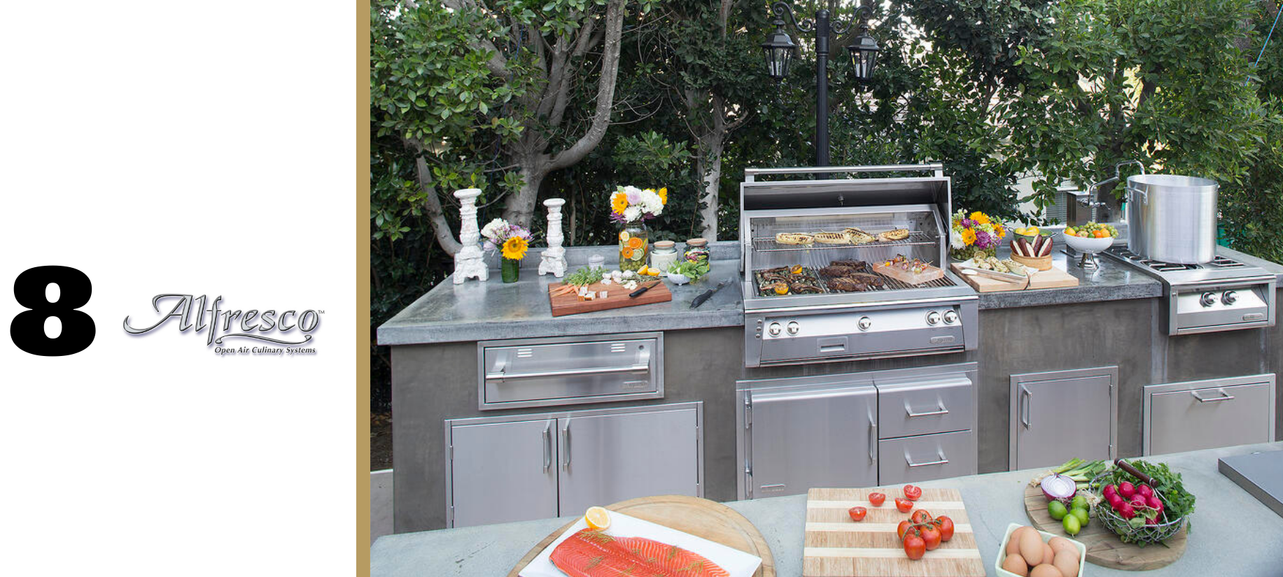 Alfresco complete line of residential outdoor kitchen appliances