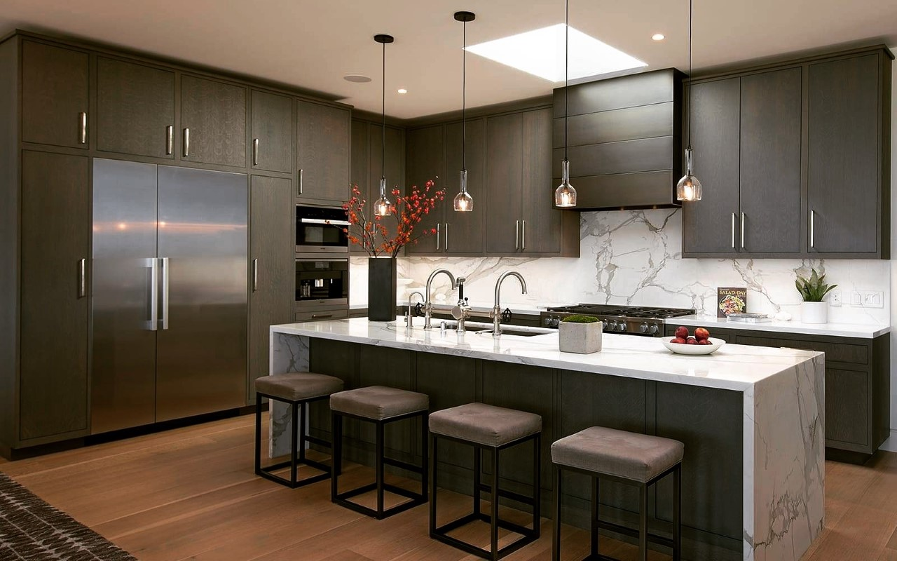 Kitchen by general contractor James Corr, the founder and owner of Corr Contemporary Homes