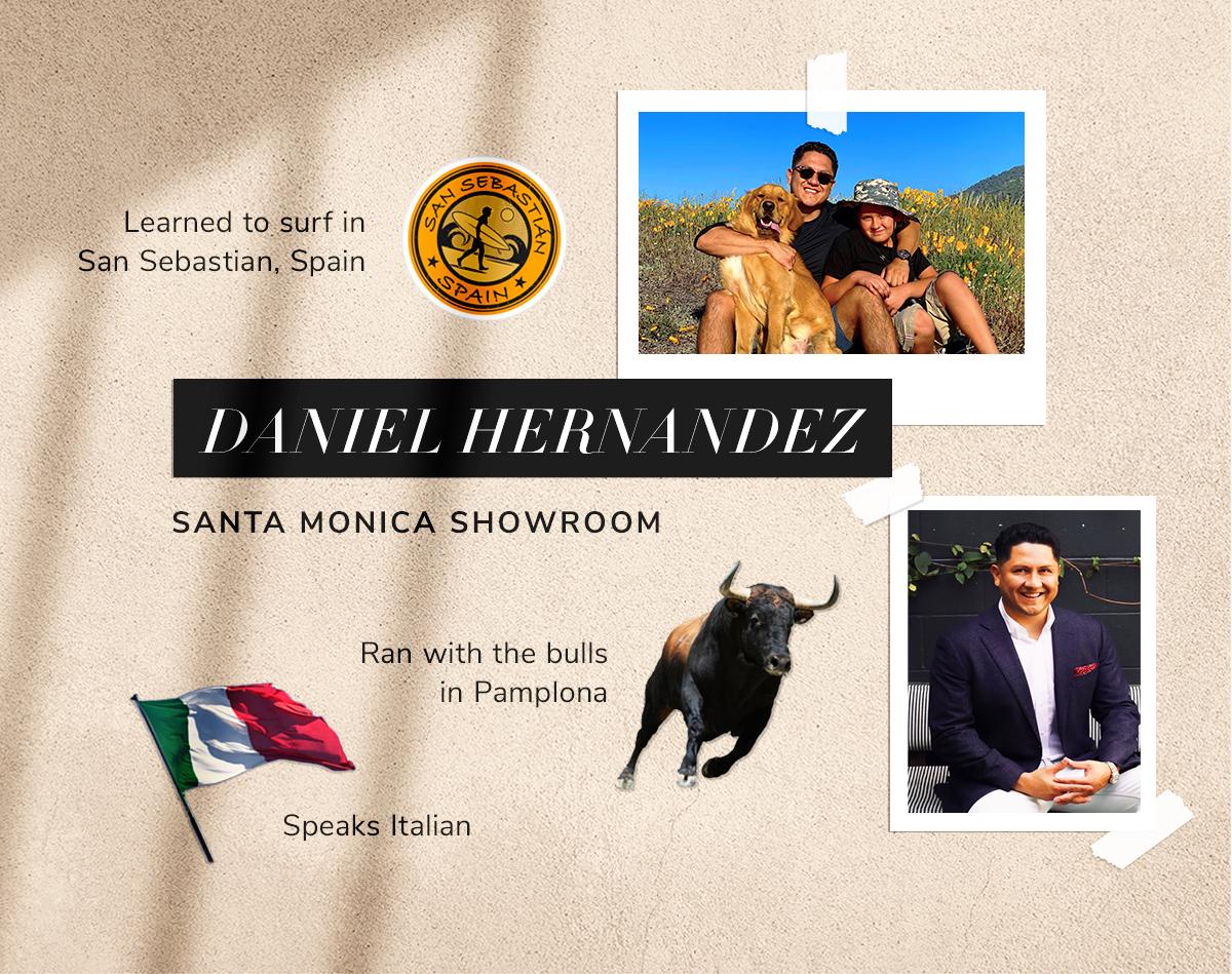 Daniel Hernandez Learned to surf in San Sebastian, Spain
