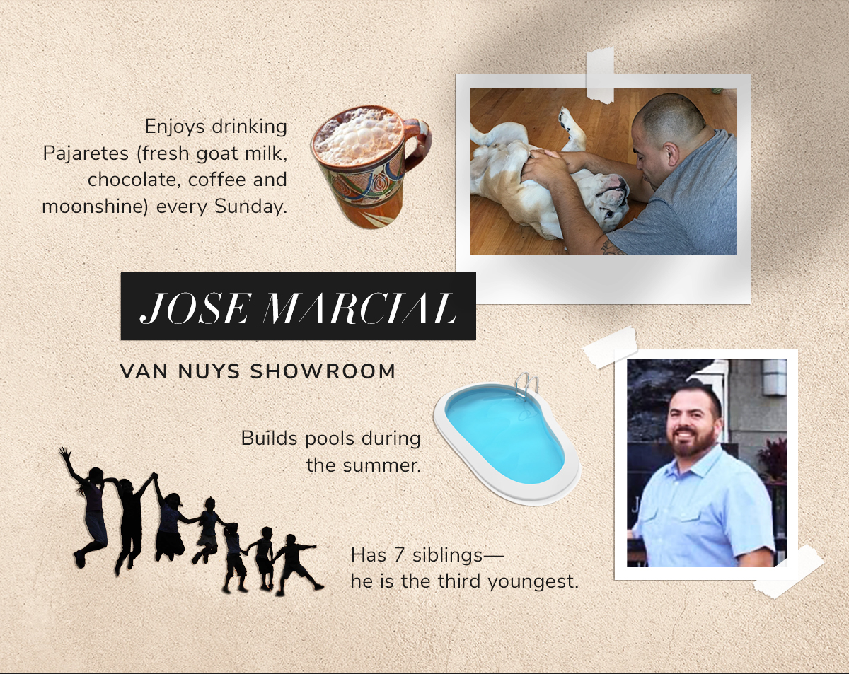 Jose Marcial Builds pools during the summer.