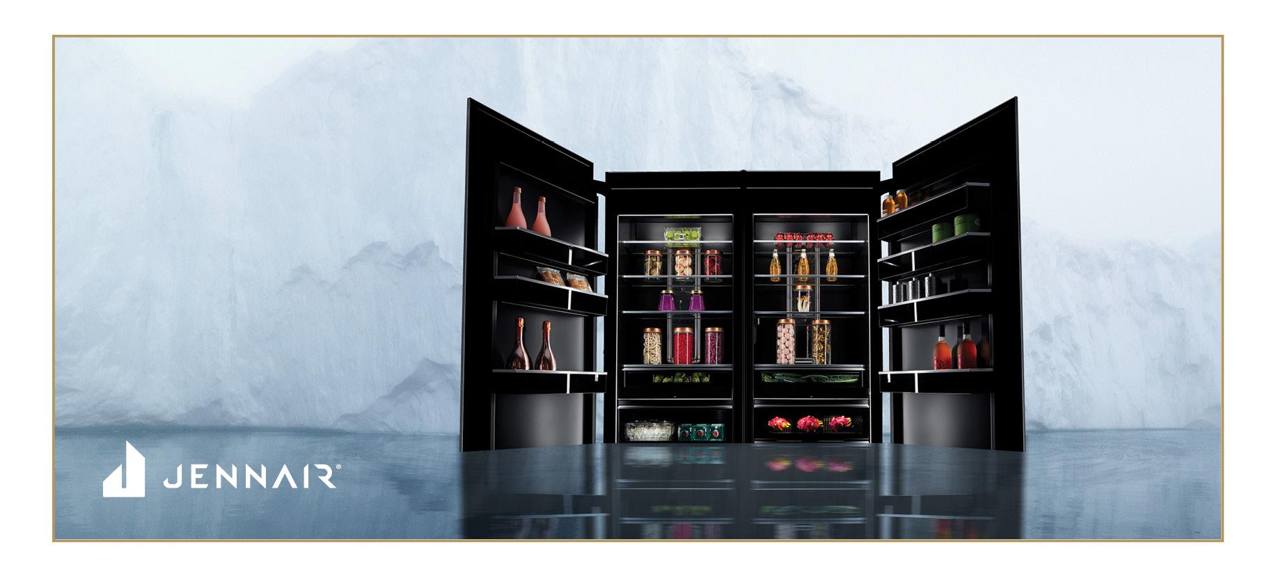 Jennair Rise & Noir Column Refrigerator
