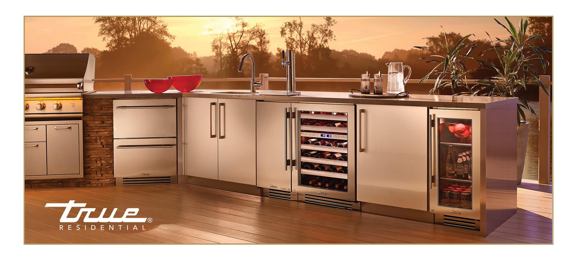 True Residential Outdoor Undercounter Refrigerator