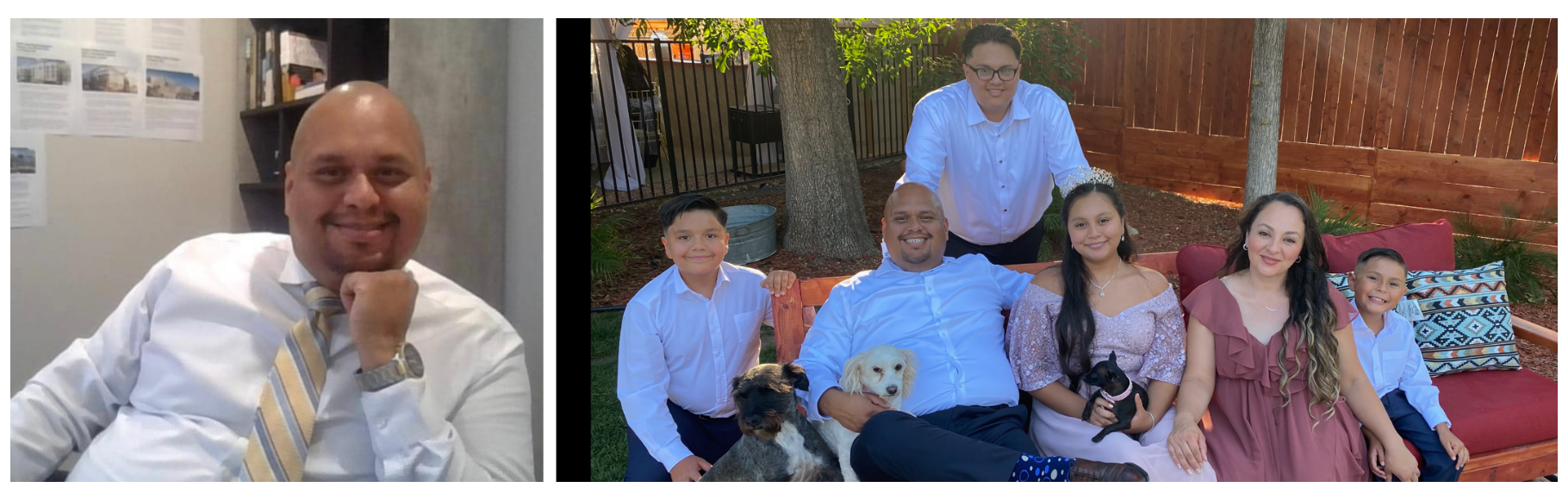 Snyder Diamond new builder division director Jojo Guevara portrait and with his family