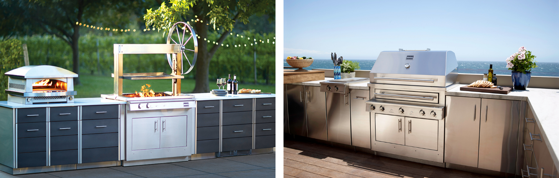 Kalamazoo Outdoor Kitchens with the Gaucho and built-in grills