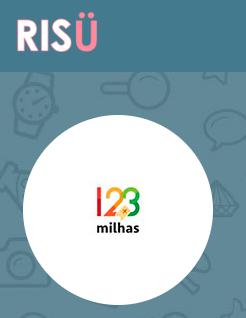Página da 123-Milhas no site da Risü