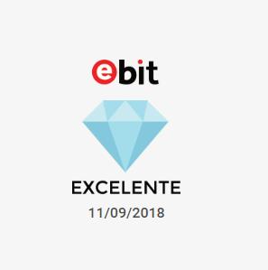 Premiação diamante no site do Ebit