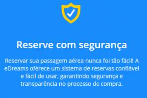 eDreams é confiável: Site seguro