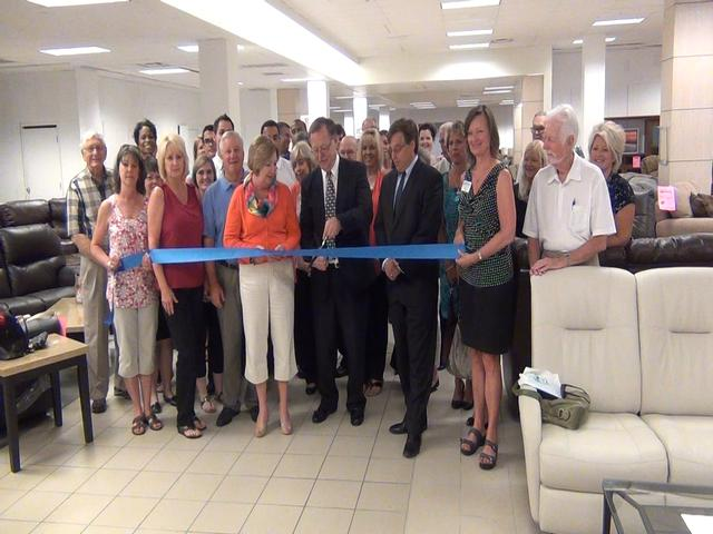 Exceptional Ribbon Cutting Ceremony: Illinois Wholesale Furniture | RiverBender.com