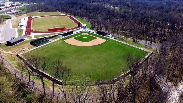 Aerial View of Alton High School's New Sports Complex
