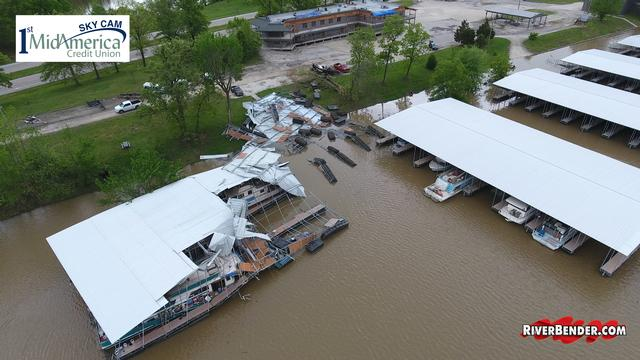 Flood & Tornado Damage at Piasa Harbor