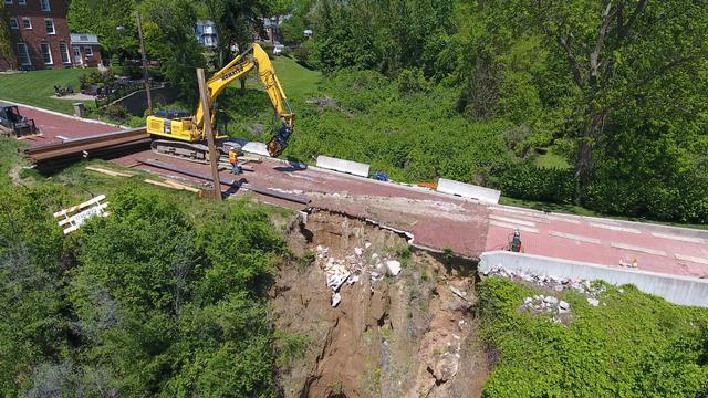 Aerial Footage of Summit Street Damages and Repairs