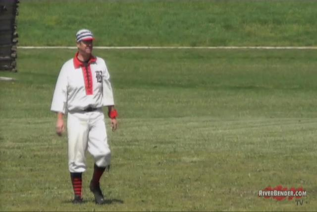 Vintage 'Base ball' at the Lewis & Clark Historic Site