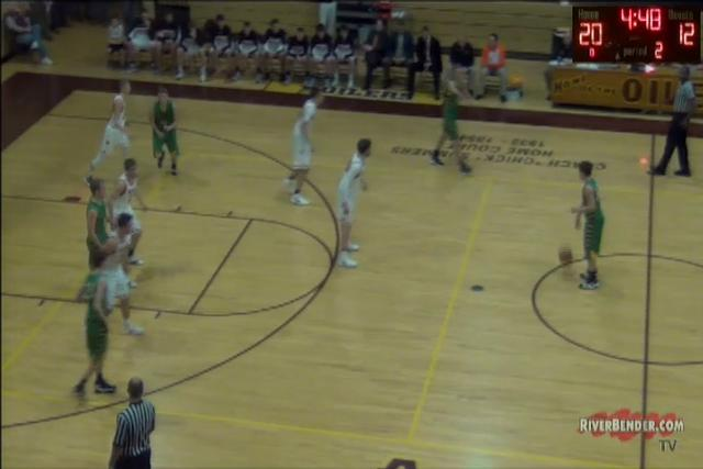 Southwestern vs. Trenton-Wesclin Boys Regional Championship Basketball 2-23-18