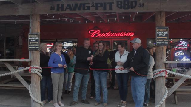 Grafton Chamber of Commerce Holds Ribbon Cutting for Hawg Pit BBQ Barn, Inc.
