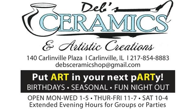 December 2019 business of the month: Deb's Ceramics & Artistic Creations