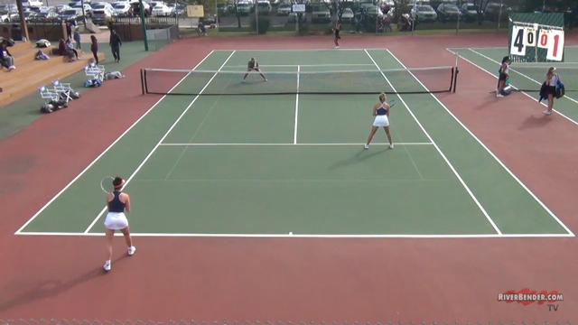 2A Edwardsville Girl's Tennis Sectional Doubles Match 10-16-20
