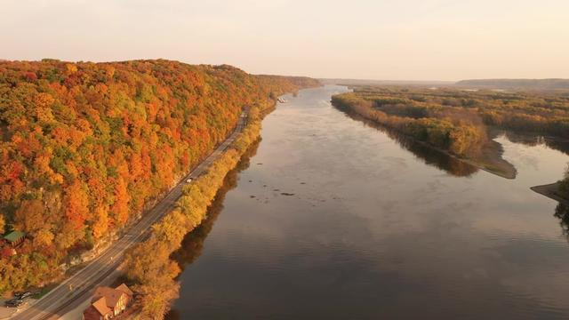 Fall on the Mississippi River - created by Scott Abing