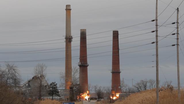 Wood River Power Plant Stack Demolition