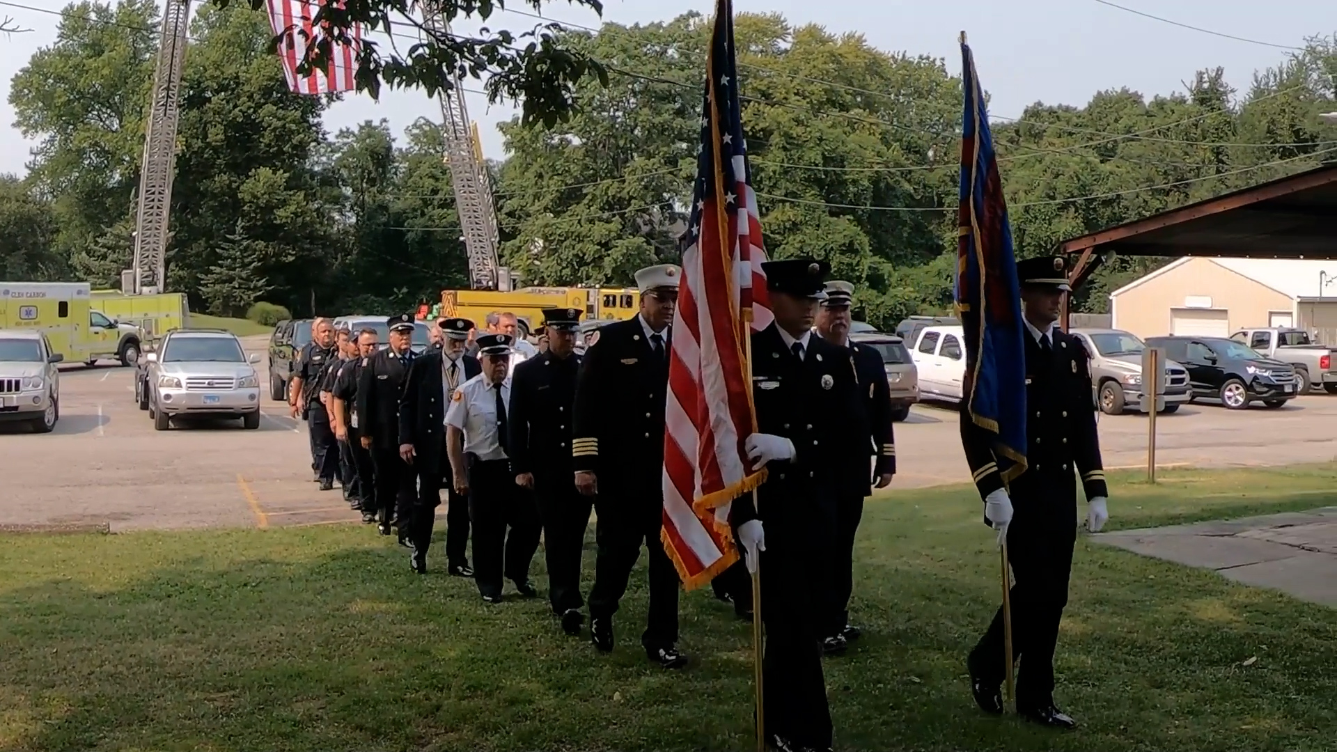 Edwardsville and Glen Carbon Fire Departments Hold 9/11 Memorial Ceremony