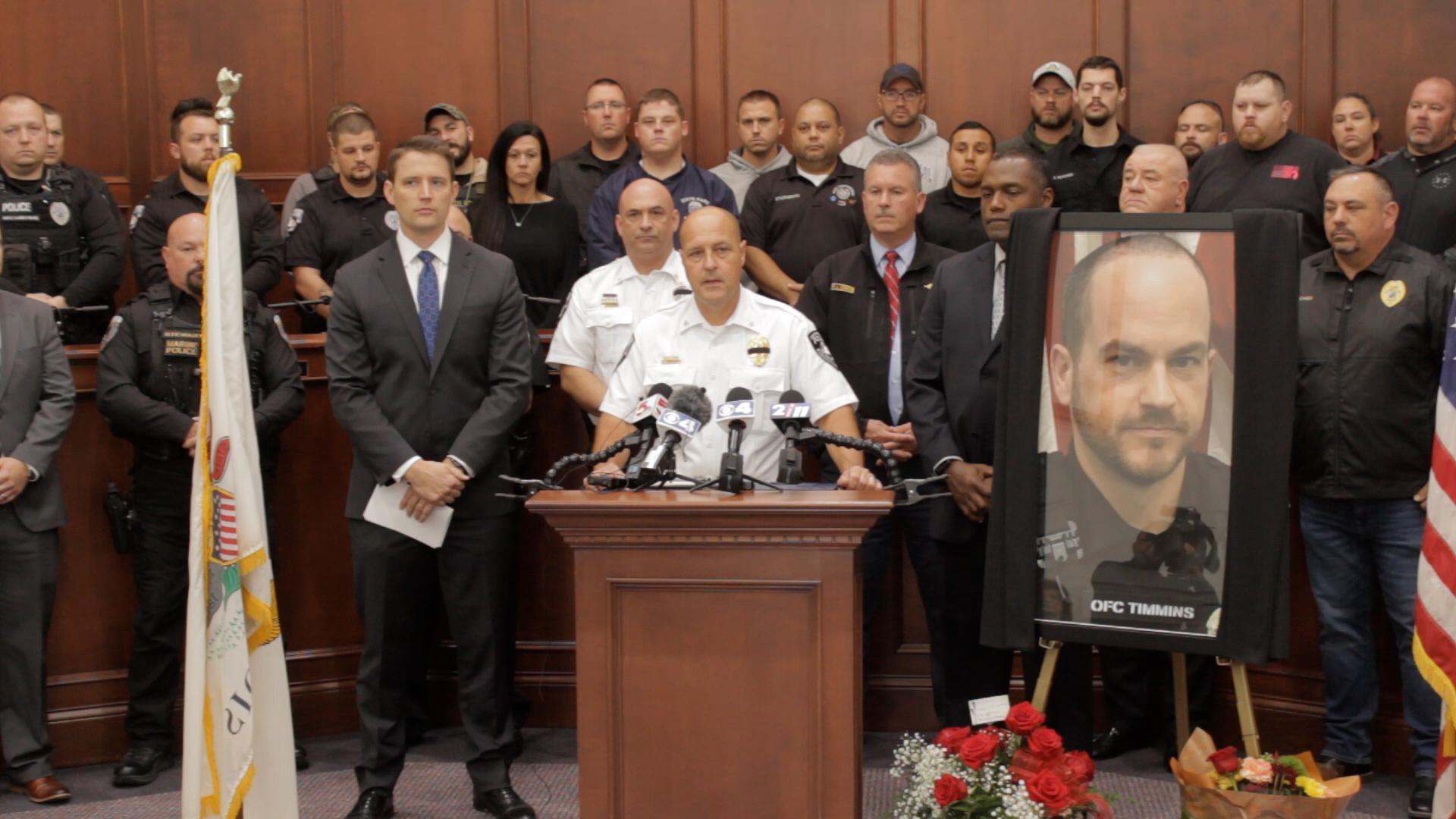 Pontoon Beach Police Press Conference for Case Regarding Slain Officer