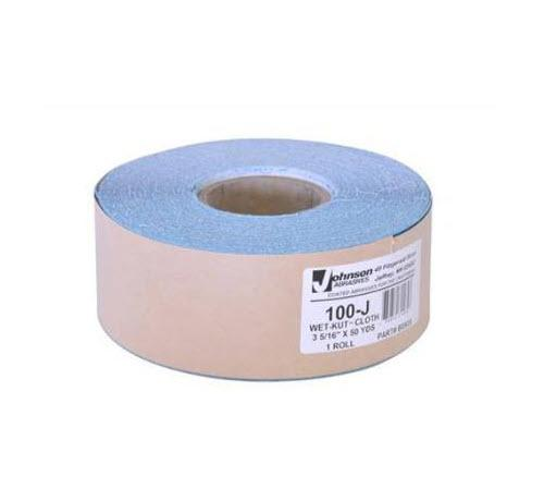 3 5/16 in x 50 yd Johnson Abrasives Wet-Kut Cloth Drywall Sanding Roll - 100 Grit