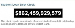 Student Debt Clock from 2010