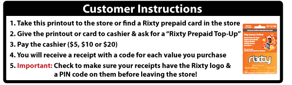 Rixty Support - How do I load my account with a Rixty ...
