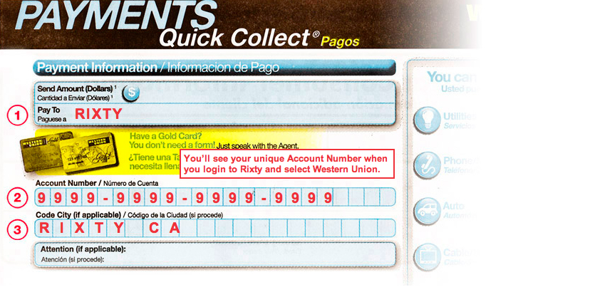 quick collect form
