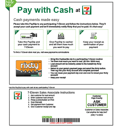 Rixty - Pay Online with Cash and Coins